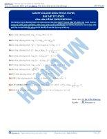 Bài tập giải phương trình logarit bằng phương pháp đặt ẩn phụ thầy lê bá trần phương