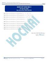 Bài tập khảo sát hàm số bậc ba thầy lê bá trần phương