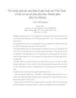 Tội cướp giật tài sản theo luật hình sự việt nam (trên cơ sở số liệu địa bàn thành phố hồ chí minh)