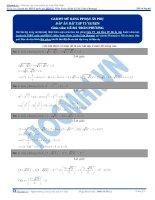 Bài tập giải phương trình mũ bằng phương pháp đặt ẩn phụ có đáp án thầy lê bá trần phương