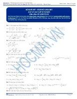 Bài tập hàm số mũ logarit thầy lê anh tuấn