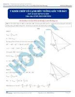 Bài tập tính thể tích khối chóp có cạnh bên vuông góc với đáy có đáp án thầy lê bá trần phương