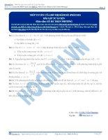 Bài tập tiếp tuyến của hàm số phần 1 thầy lê bá trân fphương