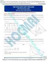 Bài tập tính thể tích khối chóp tổng hợp có đáp án thầy lê bá trần phương