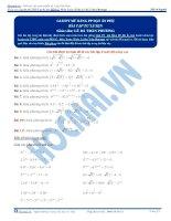 Bài tập giải phương trình mũ bằng phương pháp đặt ẩn phụ thầy lê bá trần phương