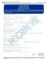 Bài tập phương trình mỹu thầy lê anh tuấn