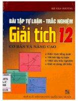 Bài tập tự luận và trắc nghiệm giải tích 12 cơ bản và nâng cao ĐHQG