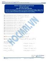 Bài tập phương trình mũ logarit cơ bản phần 1 2 thầy lê bá trần phương