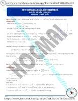 Bài tập sự tương giao hàm số có đáp án thầy lê an h tuấn