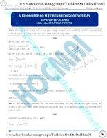 Bài tập tính thể tích khối chóp có mặt bên vuông góc với đáycó đáp án  thầy lê bá trần phương