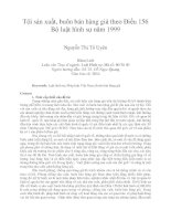 Tội sản xuất, buôn bán hàng giả theo điều 156 bộ luật hình sự năm 1999