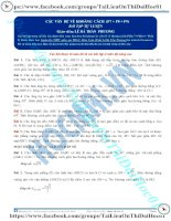 Bài tập khoảng cách phần 7 8 9 thầy lê bá trần phương