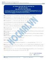 Bài tập sự tương giao của hàm bậc ba thầy lê bá trần phương