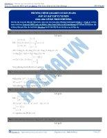 Bài tập phương trình mũ logarit cơ bản phần 1 2 có đáp án thầy lê bá trần phương