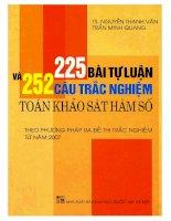 Đề tổng hợp 252 bài trắc nghiệm môn toán khảo sát hàm số ĐHQG