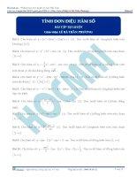 Tính đơn điệu của hàm số thầy lê bá trần phương