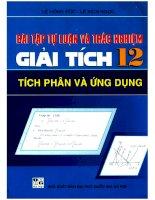 Bài tập tự luận trắc nghiệm giải tích 12 tích phân và ứng dụng ĐHQG