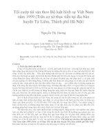 Tội cướp tài sản theo bộ luật hình sự việt nam năm 1999 (trên cơ sở thực tiễn tại địa bàn huyện từ liêm, thành phố hà nội)
