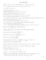 Đáp án toán cao học (ĐHBK TPHCM)