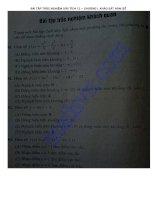 Bài tập trắc nghiệm chương 1 khảo sát hàm số giải tích 12