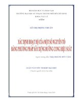 Luận văn tốt nghiệp Vật lý: Xác định tọa độ của một số nguyên tố bằng phương pháp xây dựng đường cong hiệu suất