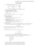 Hệ thống lý thuyết hóa học THPT  phục vụ ôn thi THPT QG, ôn thi học sinh giỏi