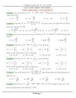 bài tập, đề thi trắc nghiệm toán 12