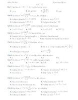 Chủ đề 1. Hàm số và đạo hàm (trắc nghiệm toán 12)