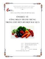 Tìm hiểu về công đoạn thanh trùng trong chế biến đồ hộp rau quả
