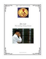 Tài liệu ôn tập môn thị trường chứng khoán