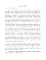 """""""Ứng dụng GIS và Viễn thám để thành lập bản đồ hiện trạng sử dụng đất  huyện Triệu Sơn tỉnh Thanh Hoá"""""""