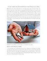Tư vấn về phân chia di sản thừa kế là tài sản chung của vợ chồng