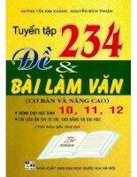 Tuyển tập 234 đề và bài làm văn (cơ bản và nâng cao)(tái bản lần thứ tư) phần 1