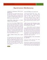 Từ điển triệu chứng, hội chứng y khoa
