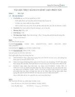 bài tập thục hành CSDL phân tán