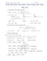 Bài 2    biến đổi đơn giản biểu thức chứa căn thức bậc hai