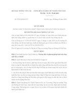 Quyết định 2729/QĐ-BGTVT về phương pháp tính toán công suất bến xe khách