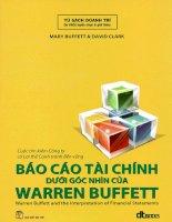Báo cáo tài chính dưới góc nhìn của warrent buffet