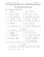 Bài 3   sử dụng hằng đẳng thức và phương pháp tách để tính giá trị biểu thức
