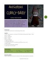 Cách móc Búp bê Cuddly baby (bé sơ sinh) dễ làm, siêu dễ thương cho bé