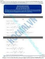 Bài tập phương pháp hàm số giải pt mũ có đáp án thầy nguyễn bá tuấn