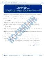 Bài tập dạng đại số của số phức thầy nguyễn bá tuấn