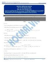 Bài tập phương trình mặt phẳng có đáp án thầy nguyễn bá tuấn