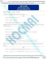 Bài tập tiếp tuyến của đồ thị hàm số có đáp án thầy nguyễn bá tuấn