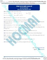 Bài tập tính đơn điệu của hàm số thầy nguyễn bá tuấn