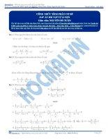Bài tập nguyễn hàm tích phân cơ sở có đáp án thầy nguyễn bá tuấn