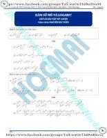Bài tập hàm số mũ và logarit có đáp án