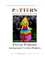 Cách móc Búp Bê Công chúa hoa dễ làm, siêu dễ thương cho bé