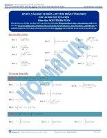 Bài tập phương pháp tích phân từng phần thầy nguyễn bá tuấn