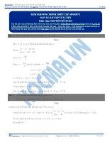 Bài tập giải phương trình trên tập số phức có dáp án thầy nguyễn bá tuấn